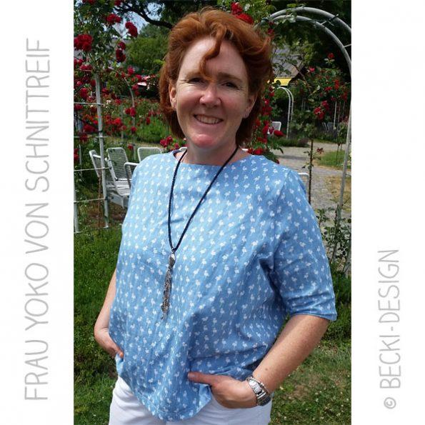 Berühmt Frau Yoko - von Schnittreif - ein Bluse für mich - Becki-Design @FN_42