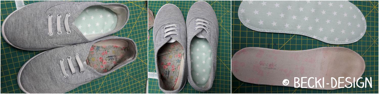 Schuhe aufpeppen - Einlegesohle