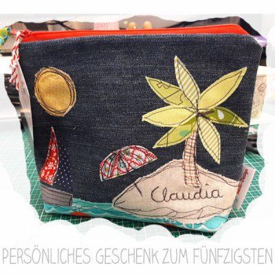 Tasche mit Strandmotiv