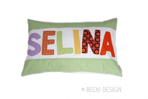 Namenskissen Becki-Design