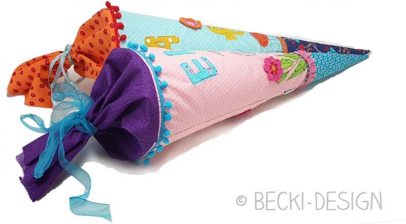 Schultüten liebevoll selber gemacht von Becki-Design